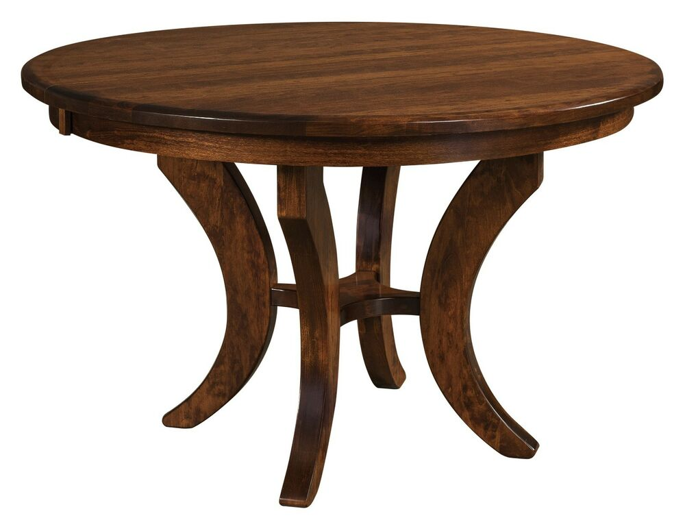 Amish Traditional Pedestal Dining Table Jessica Solid Wood