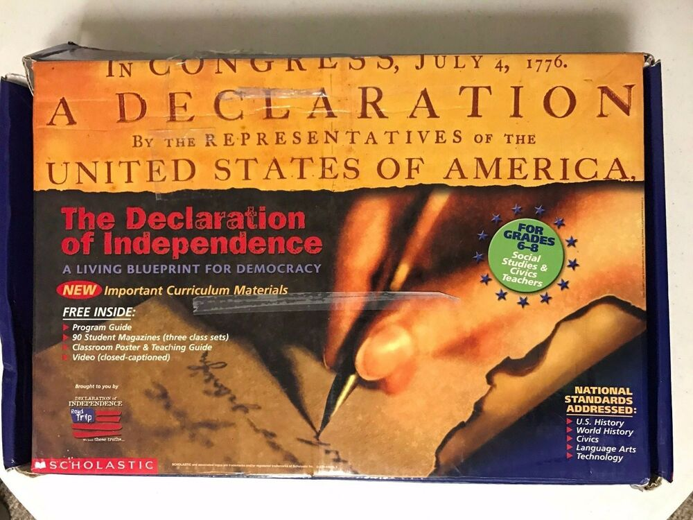 The Declaration of Independence: A Living Blueprint for Democracy  Incomplete set   eBay