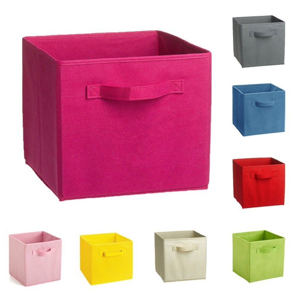 foldable storage box closet bins container organizer fabric shelf basket drawer ebay. Black Bedroom Furniture Sets. Home Design Ideas
