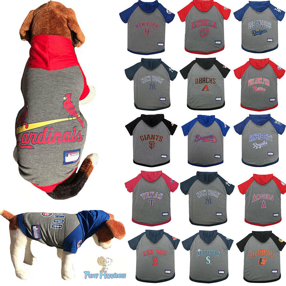 Details about MLB Fan Pet Gear Dog Hoodie Hooded Dog Shirt with Hood for  Dogs PICK YOUR TEAM 92d991077de