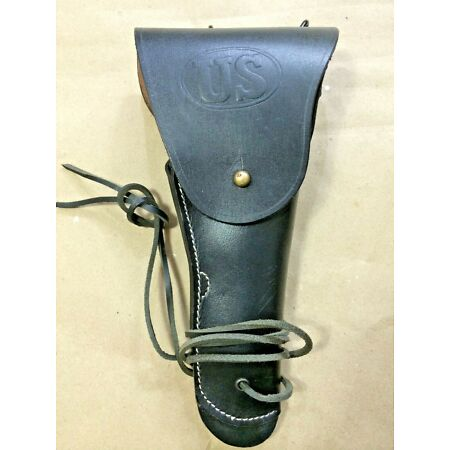 img-US WWI/ WWII M1916 Colt 45 Leather Pistol Holster BLACK - Repro
