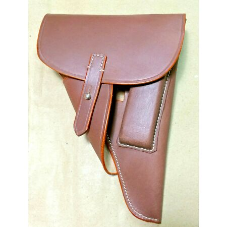 img-GERMAN WWII P-38 P38 SOFT SHELL HOLSTER: BROWN (Repro)