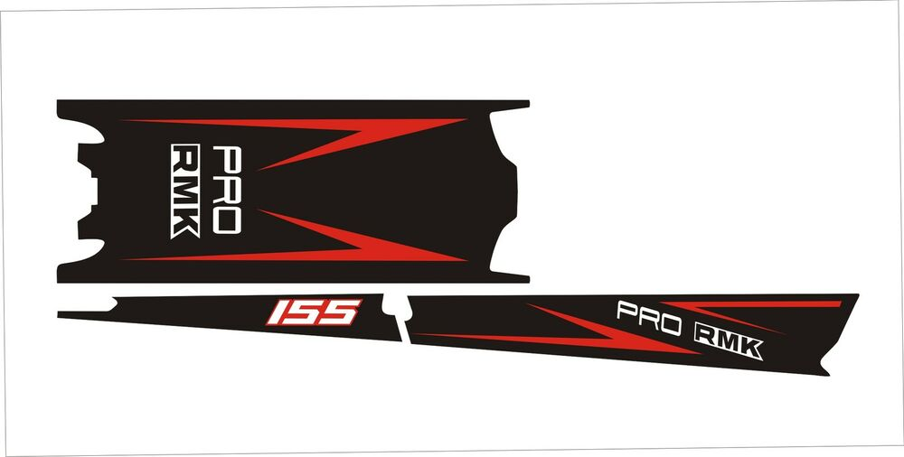 POLARIS AXYS TUNNEL SKS decal GRAPHICS 800 600 PRO RMK 155 163 red