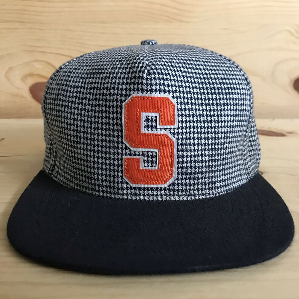 6b9442890ee Details about SUPREME HOUNDSTOOTH SNAPBACK FIVE PANEL HAT PLAID ORANGE BOX  LOGO ARMY SS2012