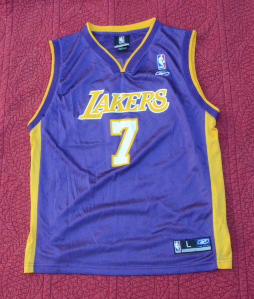 8ac7c1119 Reebok NBA Los Angeles Lakers Lamar Odom  7 Jersey Size Youth L (14-16).