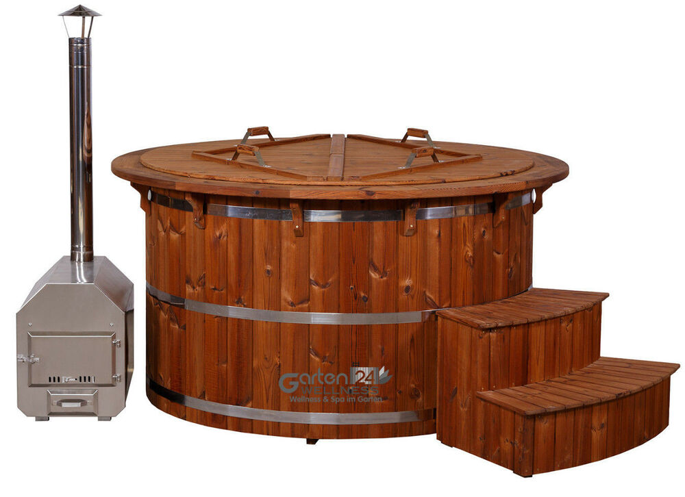 hot tub badetonne badebottich badefass badezuber outdoor garten hot pot ebay. Black Bedroom Furniture Sets. Home Design Ideas