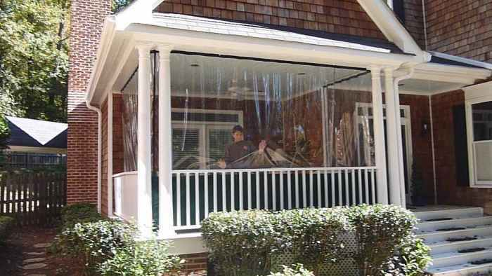30 Mil Clear Patio Winterizing Panels Clear Glass Pvc Fire
