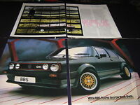 Renault 9 article and BBS Alloys on a VW Volkswagen Golf GTI advert