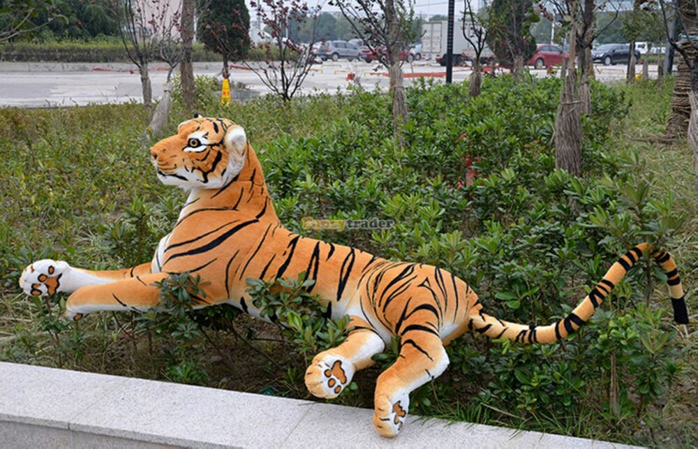 Giant Huge Big Tiger Emulational Life Plush Stuffed Toy Animal Doll