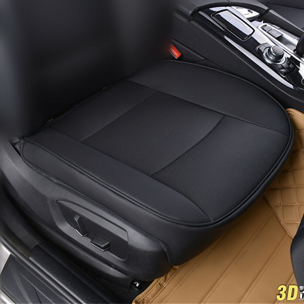 Pu Leather Deluxe Car Cover Seat Protector Cushion Black