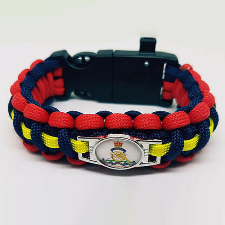 img-Royal Artillery Badged Survival Bracelet Tactical Edge.