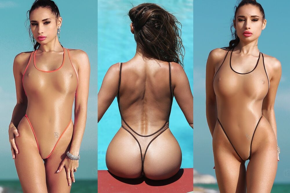 exotic one piece swimsuit extreme transparent thong low