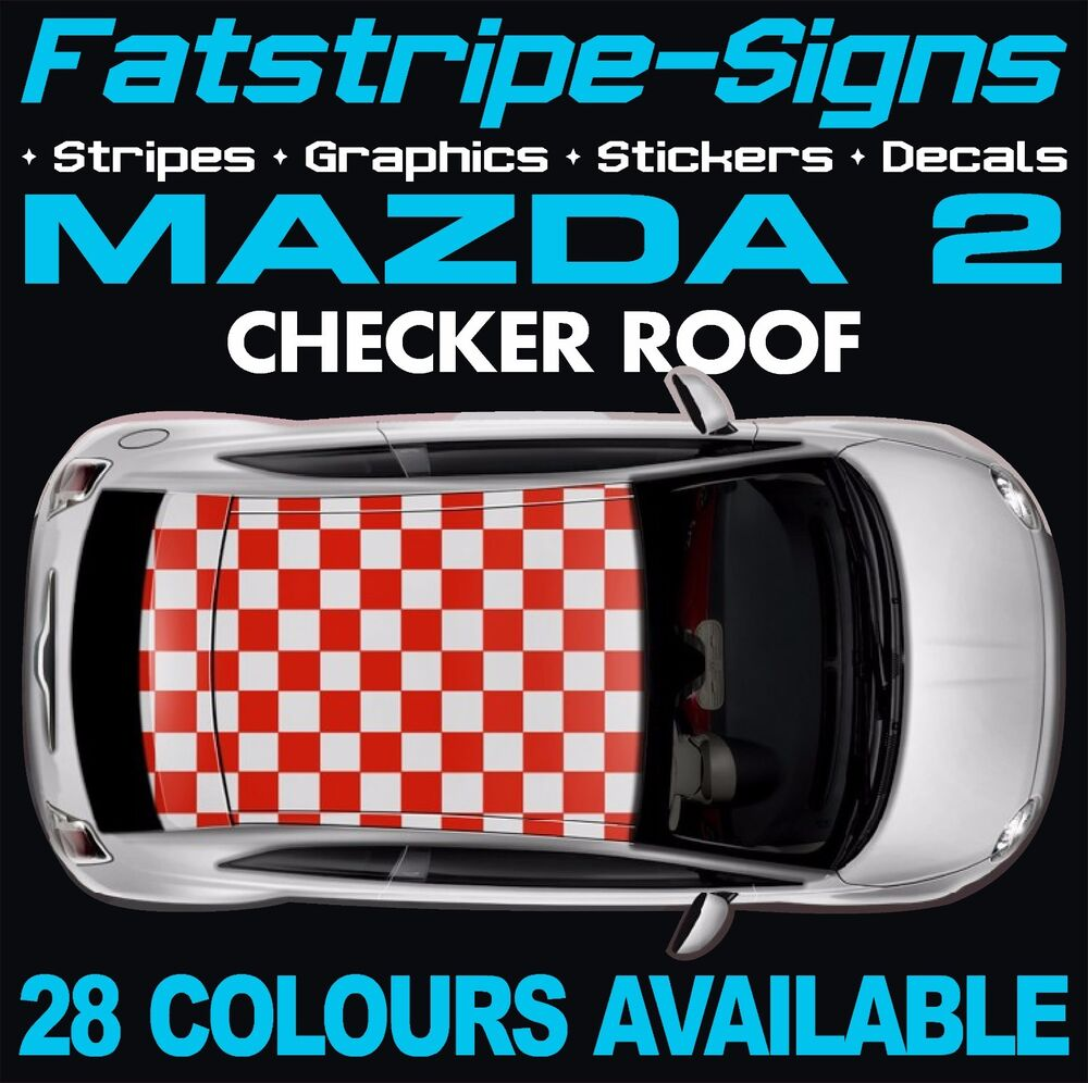 Mazda Demio Stripes Custom Stickers