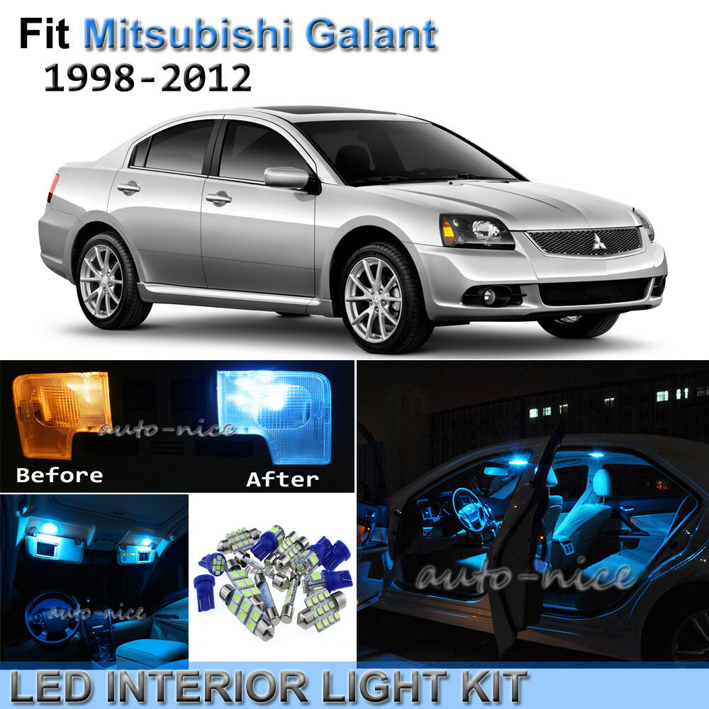 8pcs Bright Ice Blue Interior Led Lights Package Kit For 98 12
