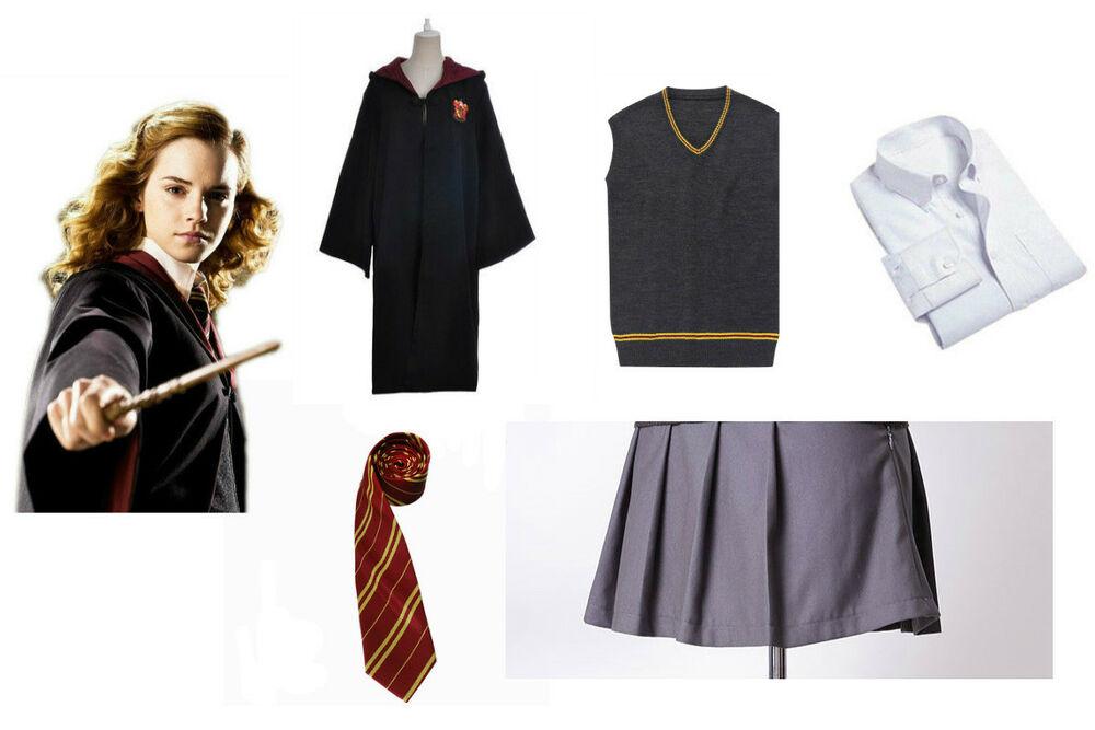 Harry Potter Hermione Granger Cosplay Costume Gryffindor School Uniform Outfit | eBay