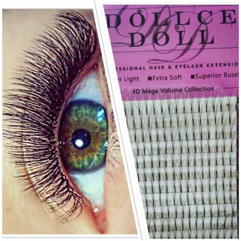 c7e20760aaa Details about Dollce Doll Premade Russian Volume Lash Fans 4D Semi  Permanent Eyelash Extension
