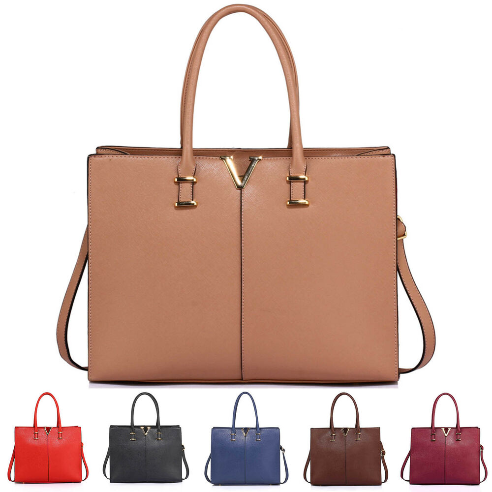 f425ede024 Details about Womens Handbags Extra Large Ladies Fashion Bags Designer New  Faux Leather Tote