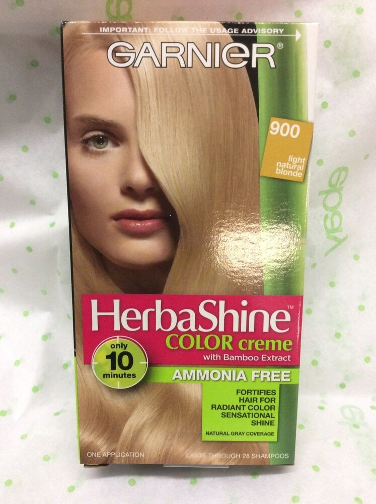 One Garnier Herbashine Haircolor Creme 900 Light Natural Blonde