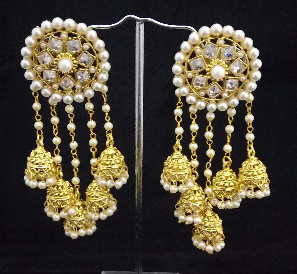 Perfect Goldtone Indian Women Drop Dangle Earring Set Bollywood Jewelry BSE104-PAR | EBay