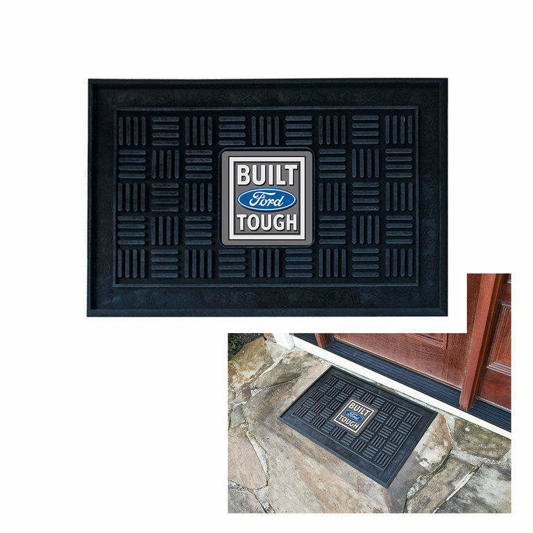 ford built tough logo gummi door mat matte fu abtreter. Black Bedroom Furniture Sets. Home Design Ideas