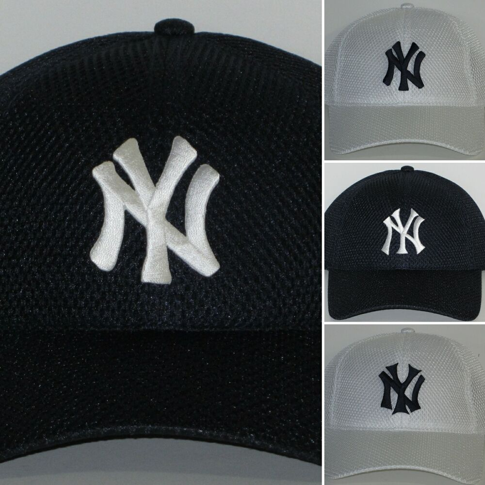 1ad10814338 Details about New York Yankees Air Mesh Pro Style Cap ✨Hat ✨CLASSIC MLB  PATCH LOGO ✨Cool ✨NEW