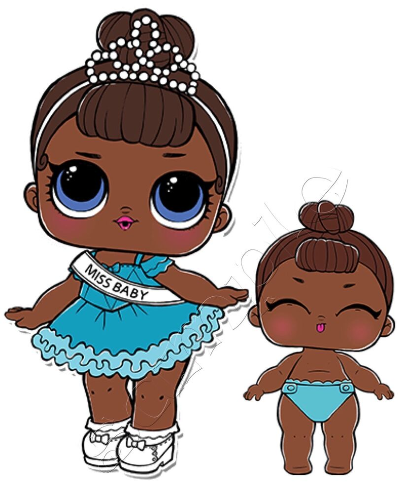 Iron On Transfer LOL SURPRISE DOLL Dolls MISS BABY LIL