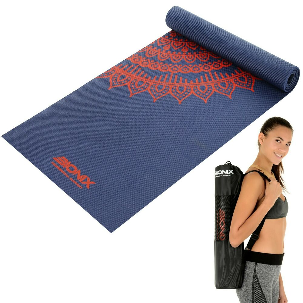 Yoga Mat 6mm Extra Thick And Carry Bag Strap Large Non