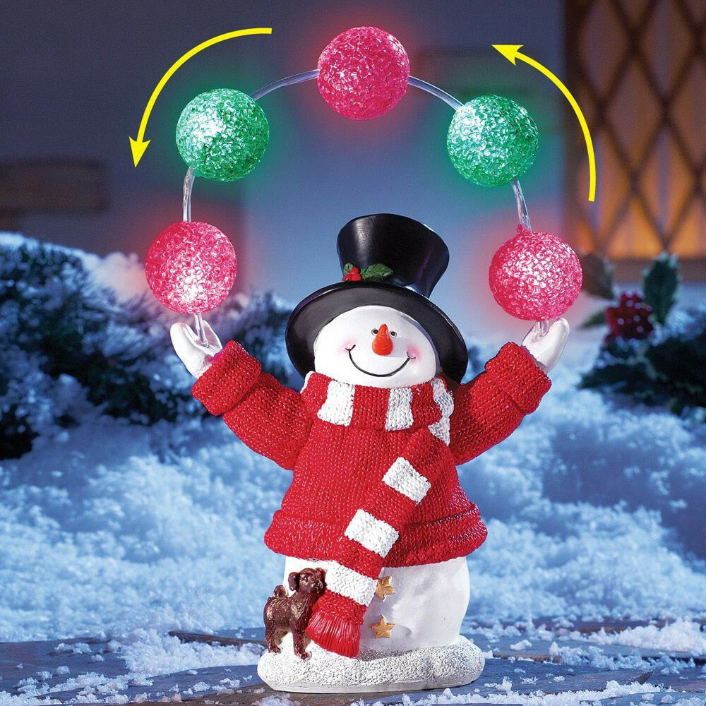 Yard christmas lighted snowman decoration outdoor xmas for Outdoor lighted christmas ornaments