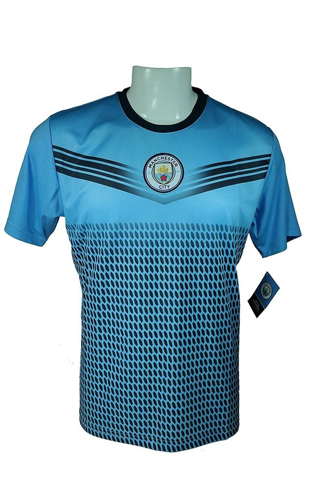 f0069f8a4 Manchester City F.C. Soccer Official Adult Performance Poly Jersey J015 -S