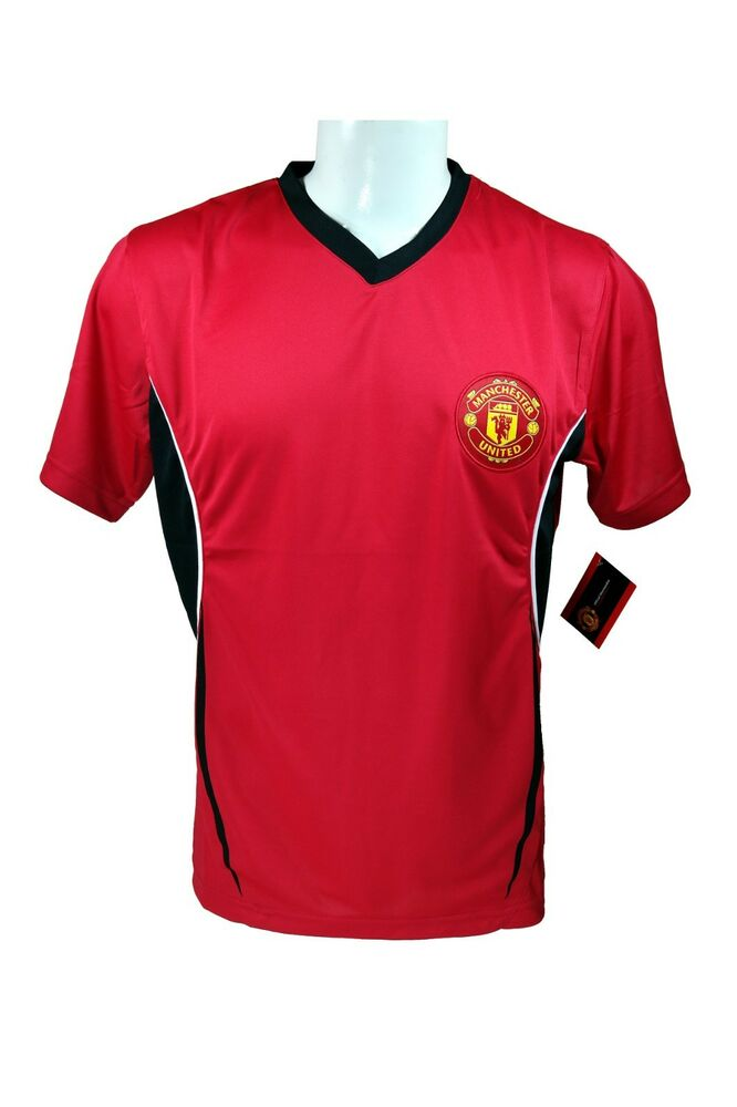 9bd27e5d49f Manchester United FC Soccer Official Adult Performance Poly Jersey 07  Rhinox - M | eBay