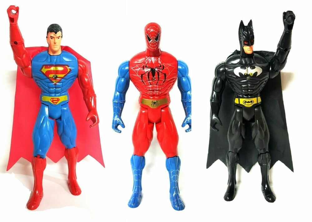 "6"" KIDS SUPERHERO SPIDERMAN BATMAN SUPERMAN ACTION FIGURE"
