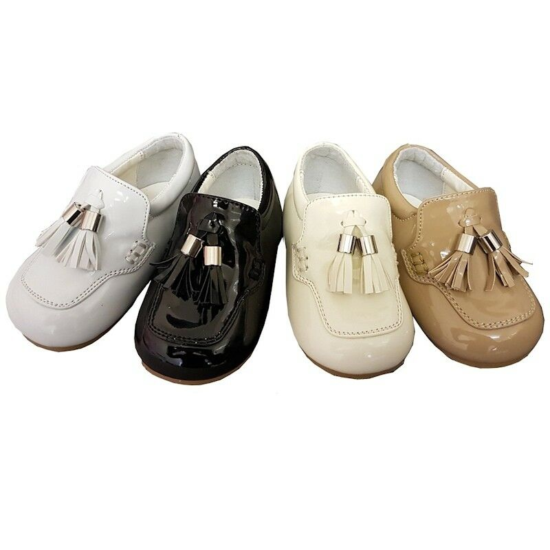 ee064f2d6ed Details about BABY TODDLER BOYS SMART SPANISH PAGE BOY WEDDING DRESS  OCCASION SHOES LOAFERS