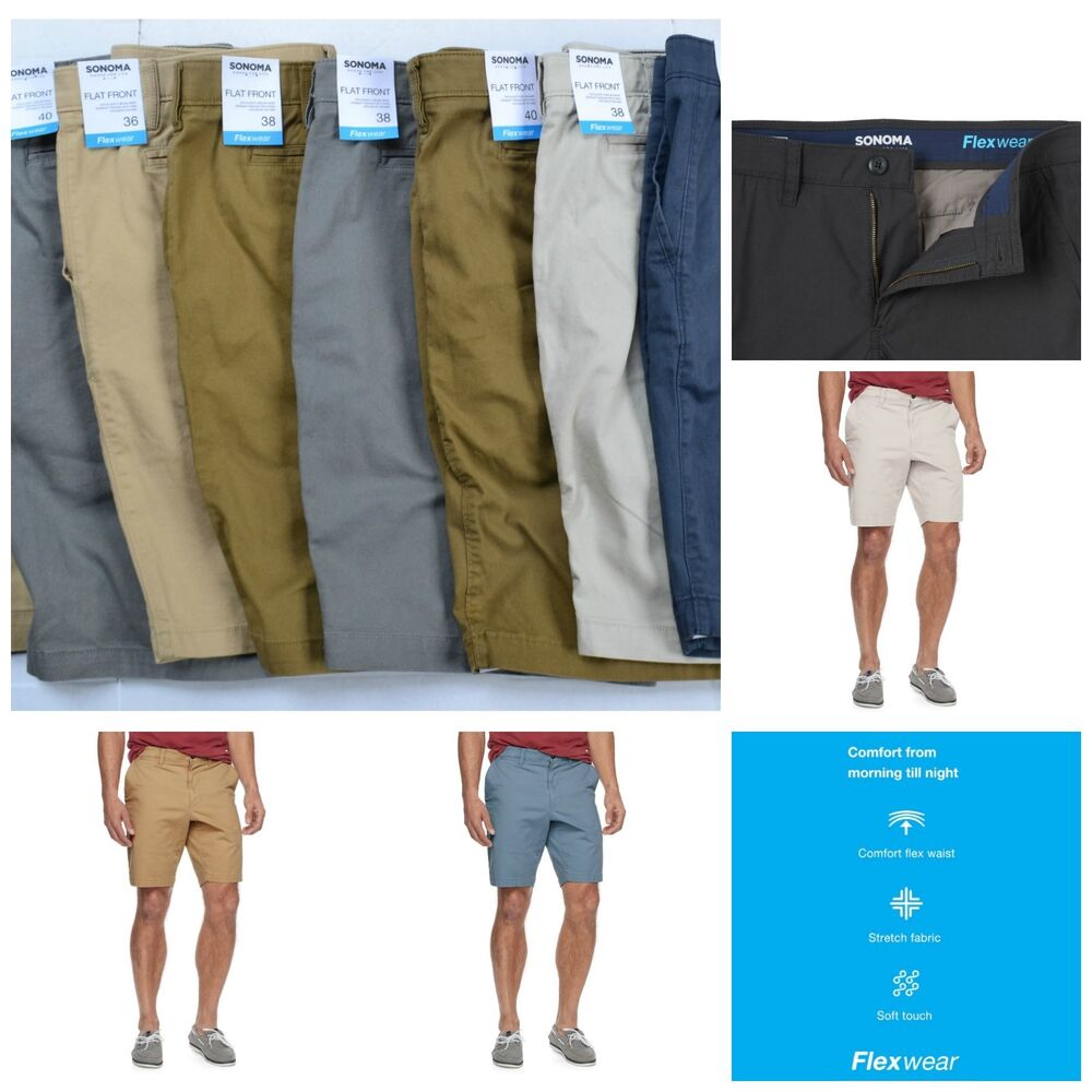43cda53f892c3 Men's SONOMA Goods for Life Flexwear Flat-Front Shorts | eBay