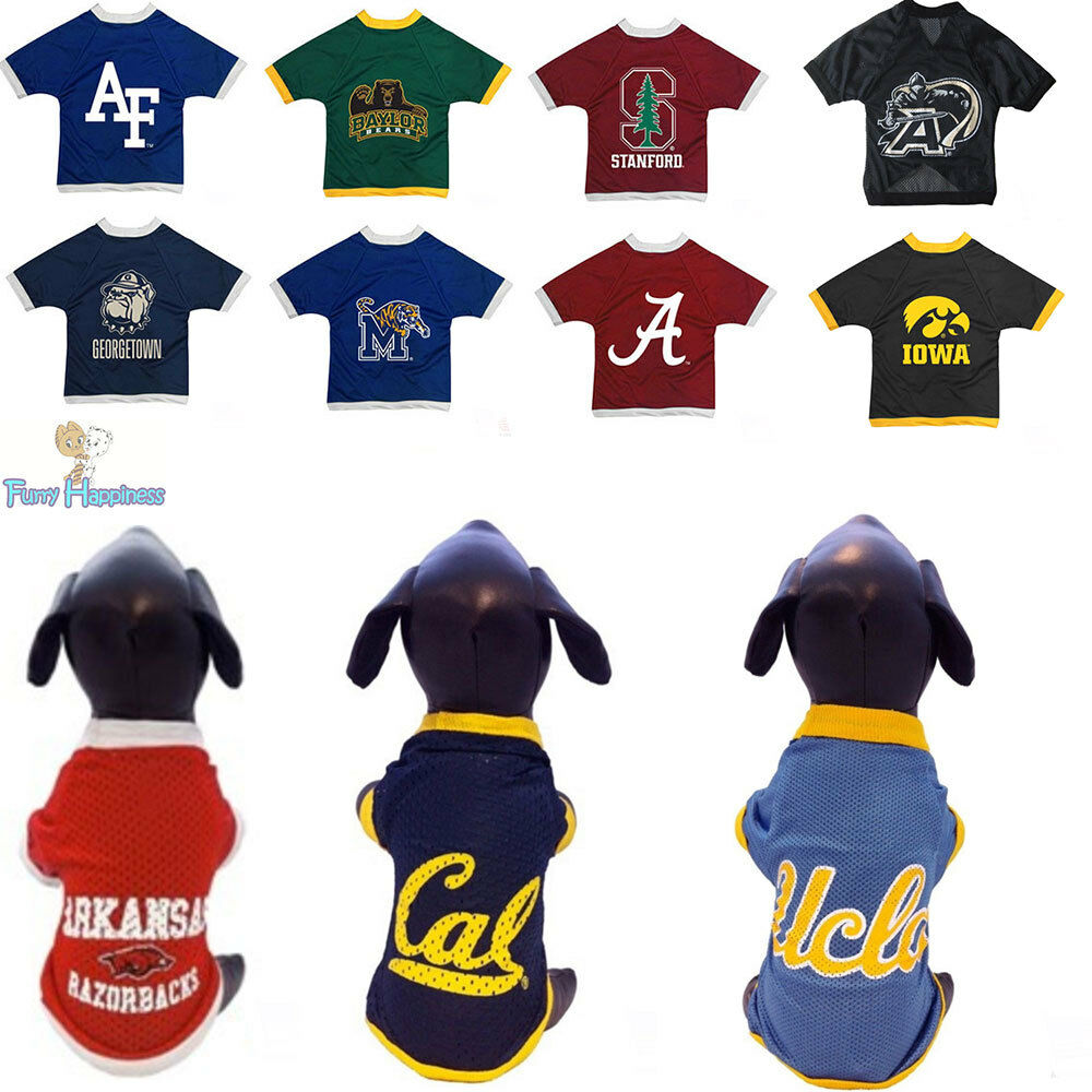 san francisco 3409a a3e64 NCAA Pet Game Fan Gear Athletic Mesh Dog Jersey For Dogs PICK YOUR TEAM  XXS-XXL | eBay