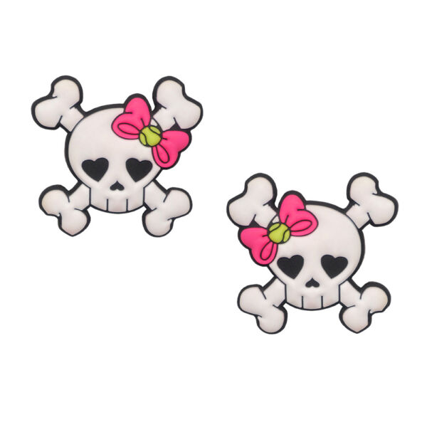 Girly Skull Tennis Dampeners by Racket Expressions. Great Girls Tennis Gift!