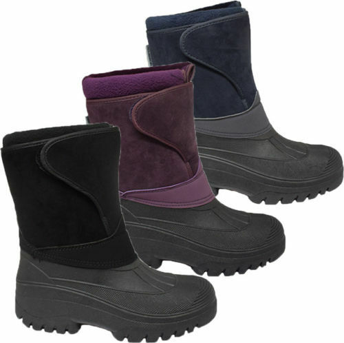 Ladies Warmlined Thermal Snow Ski Mucker Boots Women Touch