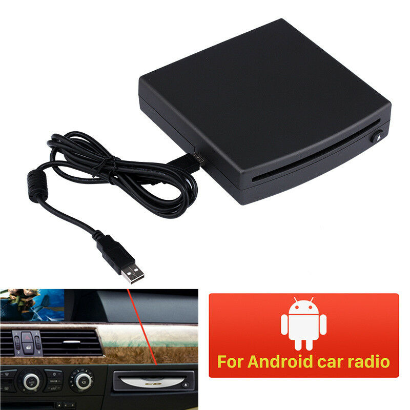 Portable 1Din Car Dash DVD Player External Drive Android