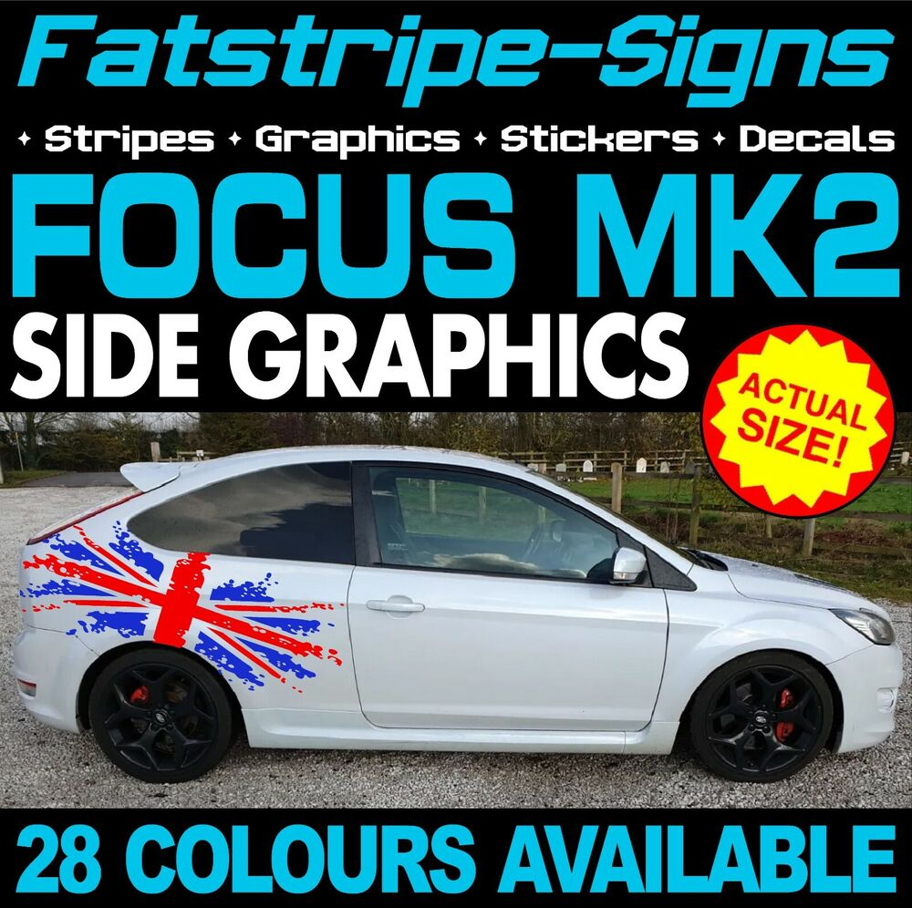 FORD FOCUS MK GRAPHICS STICKER BOMB BONNET DECALS CAR VINYL - Car decals designnew design full car body stickers for ford focus golf mg