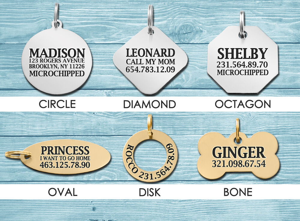 Personalized Dog Id Tag Custom Engraved Pet Tags Double