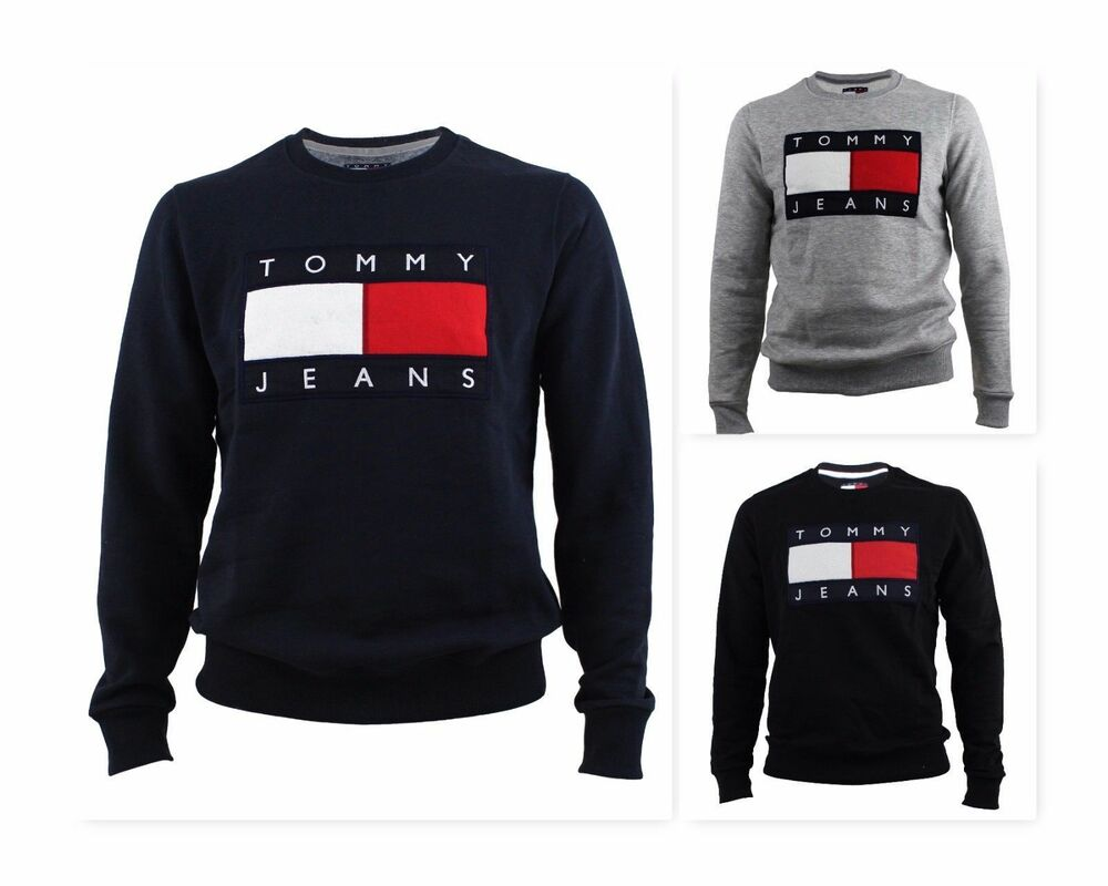 tommy hilfiger 90s jeans herren sweatshirt pullover hoodie. Black Bedroom Furniture Sets. Home Design Ideas
