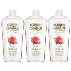3x ROSA Aceite Corporal ROSE BODY OIL Skin Hydrating Ideal For DRY Skin Massage