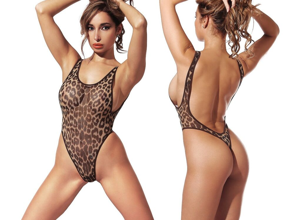 1e93a2dc20 Exotic One Piece Swimsuit Extreme Transparent Thong High Cut Bodysuit  Monokini