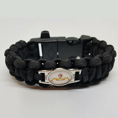 img-Royal Navy Submarine Service Badged Survival Bracelet Tactical Edge.