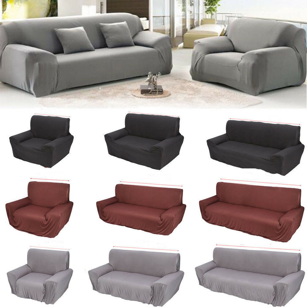 1 2 3 4 Seater Stretch Elastic Fabric Sofa Cover Couch