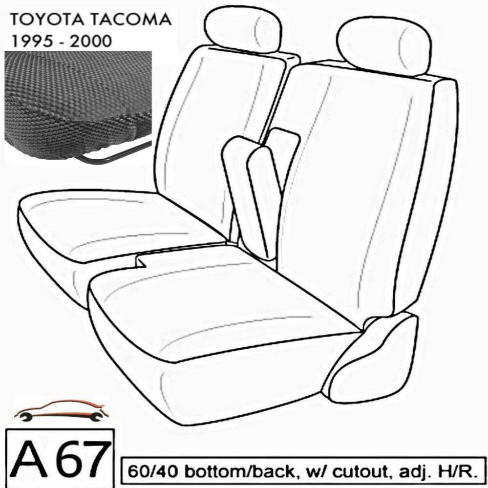 A67 Dg Toyota Tacoma Rcab Xcab Front 60 40 Split Bench