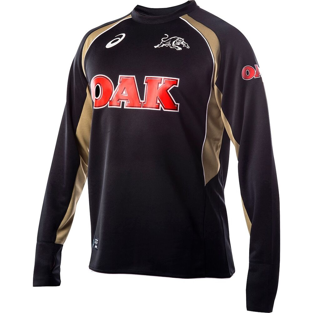 2078acd18c1 Details about NRL PENRITH PANTHERS Mens Long Sleeve Training Top Shirt,  S-2XL