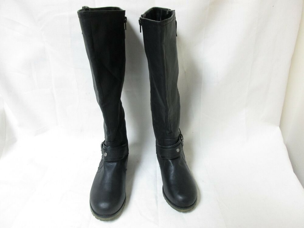 f0bcbacaad6 Details about NEW! Women s Bongo Dixie Knee High Riding Fashion Boots 20395  Wide Width Blk 68F