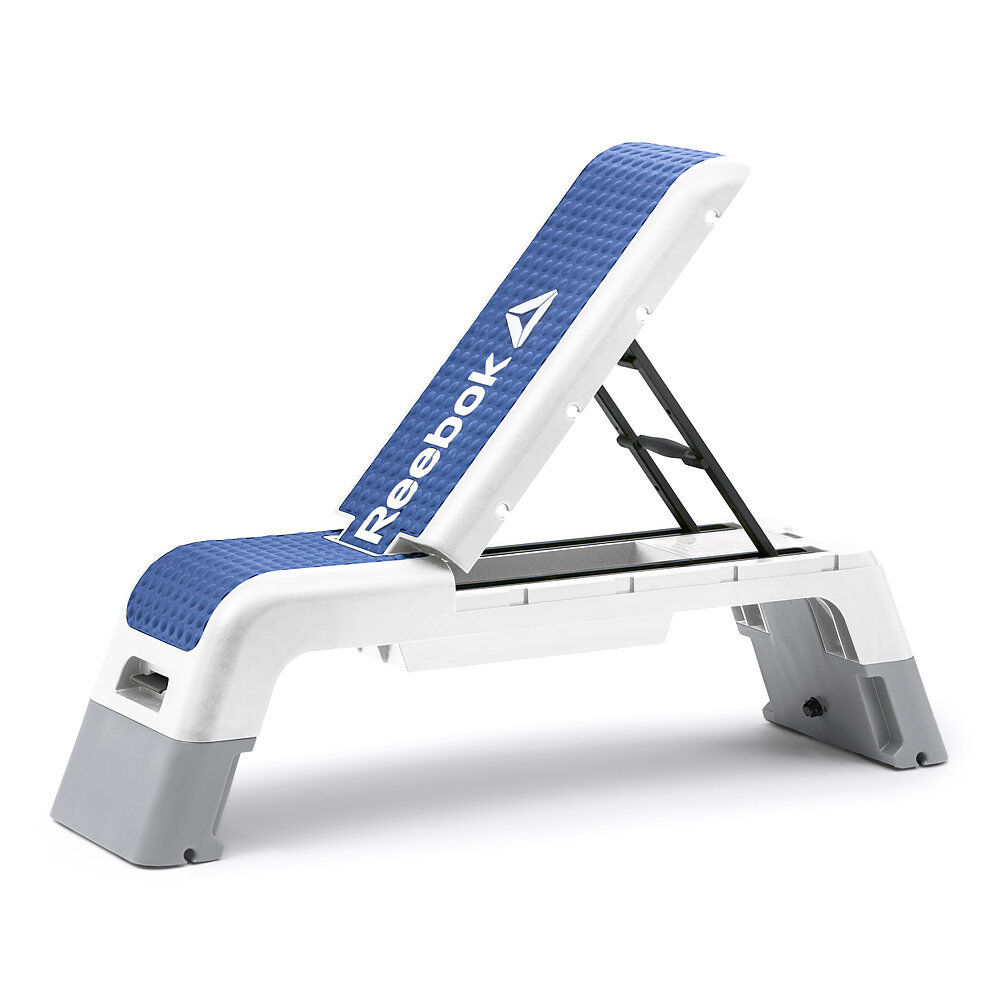 Reebok Deck Aerobic Step Stepper Workout Gym Bench Flat Incline Decline Platform Ebay