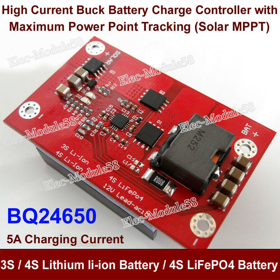 5a Mppt Solar Panel Controller Charging For 3s 4s Li Ion 18650 Lithium Battery Charger Powered By Circuit Lifepo4 Ebay
