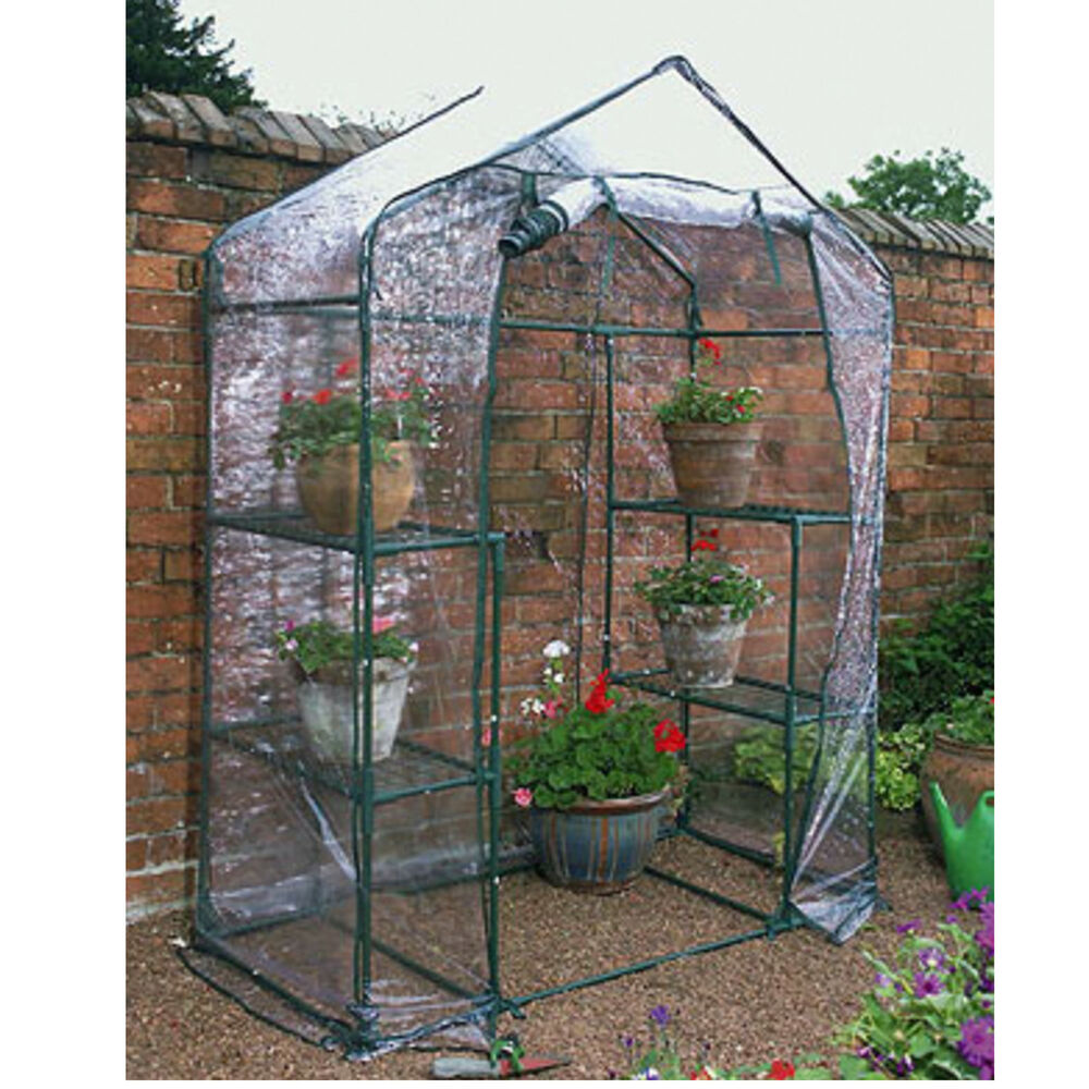 Details About Walk In Greenhouse Garden Grow House Plant Shelving Clear Pvc Outdoor Flowers